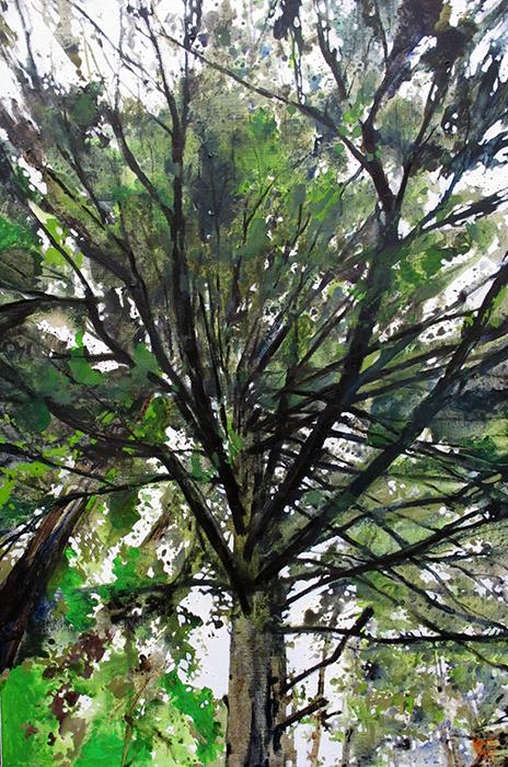 acryl- olieverf op linnen, 120x80cm