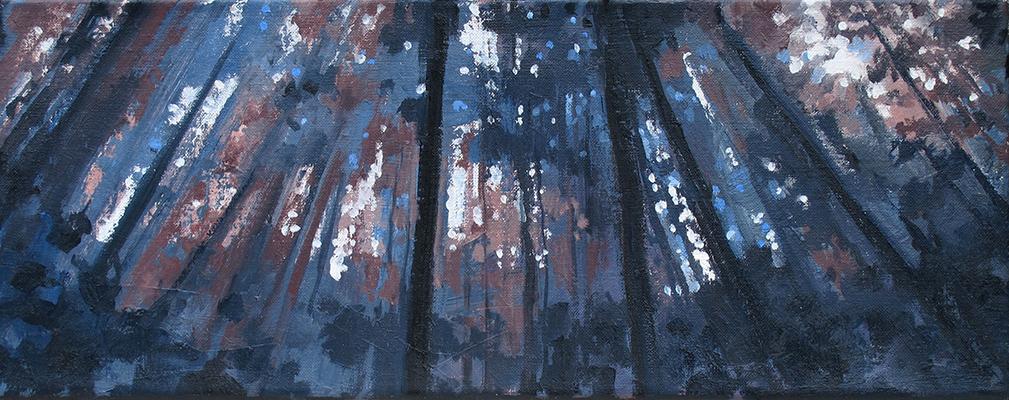 acryl- en olieverf op linnen